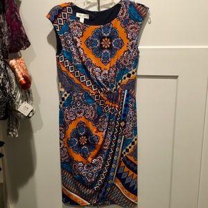 Pattern Dress with Belt